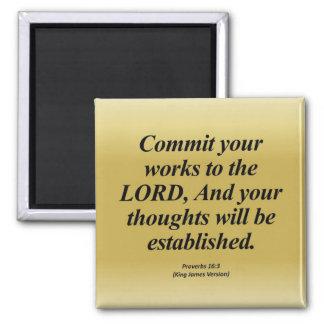 達成の諺の16:3 Abbrev マグネット