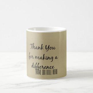 違いを生じるためにありがとう コーヒーマグカップ