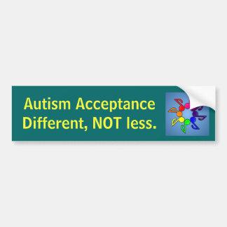 違うな自閉症の受諾より少し バンパーステッカー