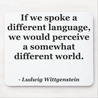 違うな言語違うな世界の引用文 マウスパッド