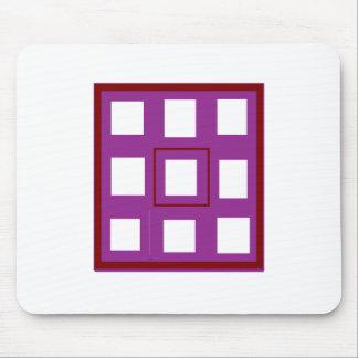 違うな買物の異なった紫色の正方形のギフトがあって下さい マウスパッド