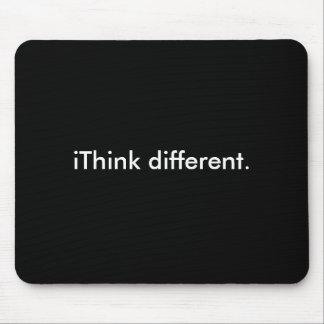 違うなiThink: 黒の白 マウスパッド