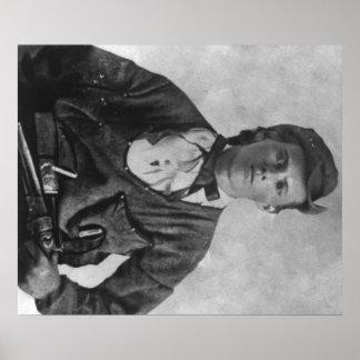 違法のJesseジェームスのポートレートの写真 ポスター