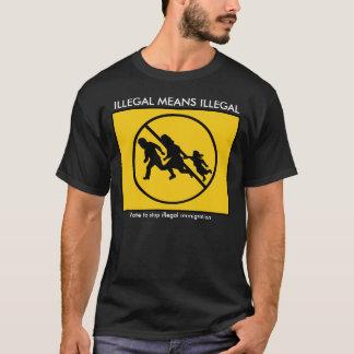 違法違法平均 Tシャツ