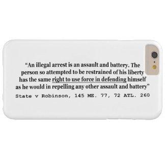違法阻止は暴行殴打です iPhone 6 PLUS ベアリーゼアケース