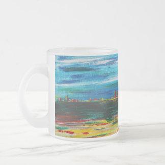 遠い地平線Viktor Tilson著デザイン フロストグラスマグカップ