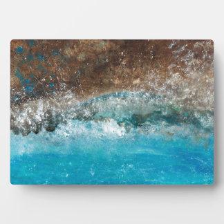遠い海岸-抽象美術 フォトプラーク