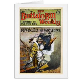 遠い西の生命に捧げられるバッファロービル週間1917 カード
