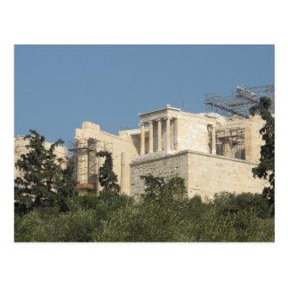 遠くからの古代ギリシャ人のパルテノンの写真 ポストカード