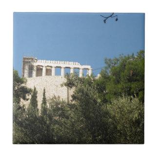 遠くからの古代ギリシャ人のパルテノン タイル