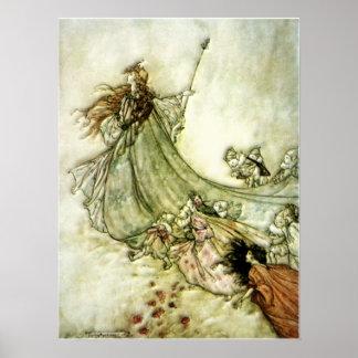 遠くにな妖精-アーサーRackham ポスター