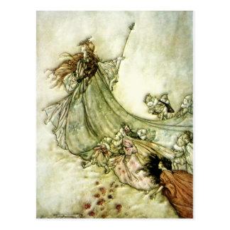 遠くにな妖精-アーサーRackham ポストカード