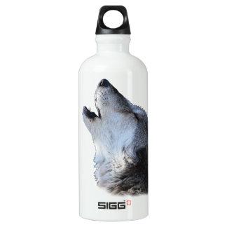 遠ぼえしているオオカミ ウォーターボトル