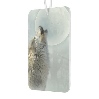 遠ぼえしているオオカミ カーエアーフレッシュナー