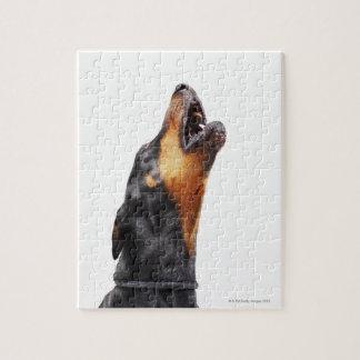 遠ぼえしているドーベルマン犬 ジグソーパズル