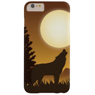 遠ぼえのオオカミおよび明るい月 BARELY THERE iPhone 6 PLUS ケース