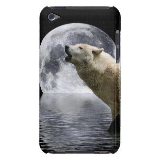 遠ぼえのオオカミの月の野生動物のiPodの箱 Case-Mate iPod Touch ケース