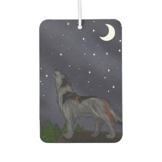 遠ぼえのオオカミの灰色 カーエアーフレッシュナー