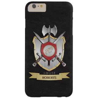 遠ぼえのオオカミのSigilの戦いの頂上の黒 Barely There iPhone 6 Plus ケース