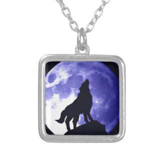 遠ぼえのオオカミ及びFullmoon シルバープレートネックレス