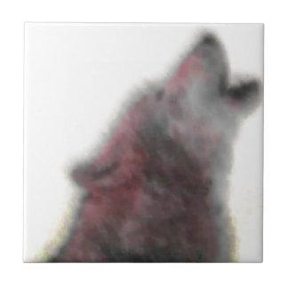 遠ぼえのオオカミ タイル