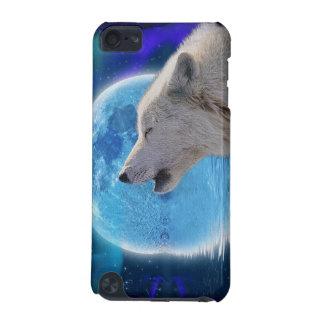遠ぼえの北極オオカミ、月の野性生物のIpod touchの場合 iPod Touch 5G ケース