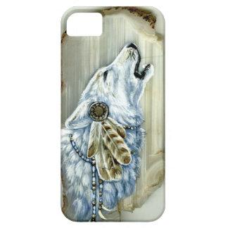遠ぼえの白いオオカミ iPhone SE/5/5s ケース