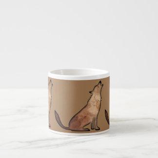 遠ぼえ犬の陶磁器のエスプレッソのマグ エスプレッソカップ
