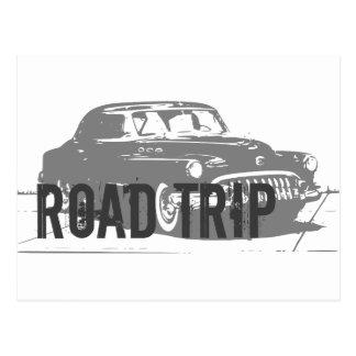 遠征のヴィンテージ車 ポストカード