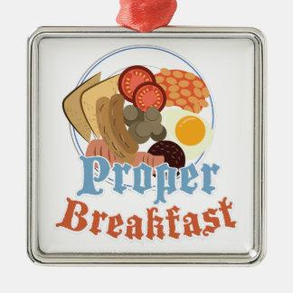 適切な朝食 メタルオーナメント
