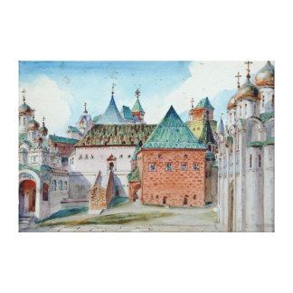 適度なMussorgskyのオペラのためのステージのデザイン キャンバスプリント