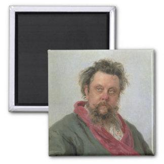適度なPetrovich Moussorgsky 1881年のポートレート マグネット