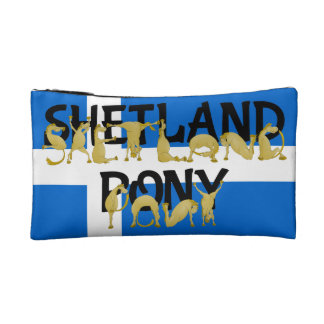 適用範囲が広い子馬-シェトランド諸島 コスメティックバッグ