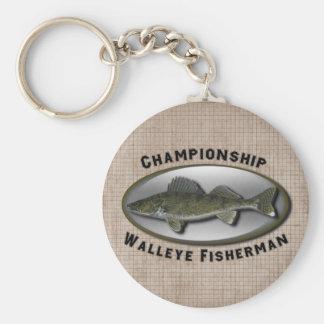 選手権のWalleyeの漁師 キーホルダー
