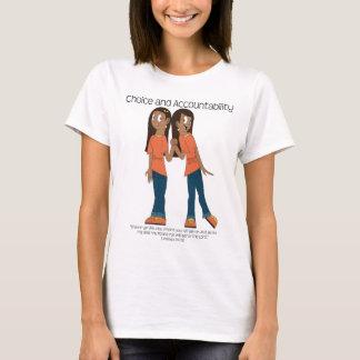 選択および責任能力のTシャツ Tシャツ