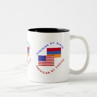 選択によってアメリカ誕生によるアルメニア語 ツートーンマグカップ
