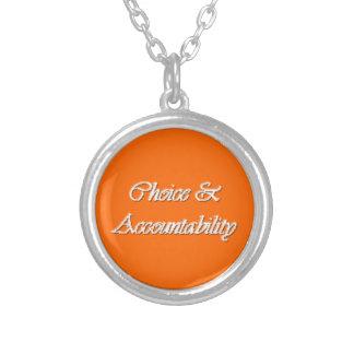 選択及び責任能力-若い女性PPの価値 シルバープレートネックレス