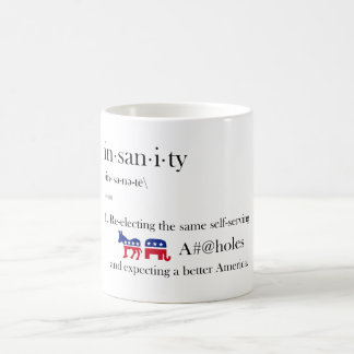 選挙の精神異常 コーヒーマグカップ