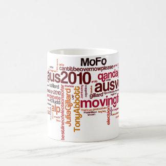 選挙の#hashtagのマグ コーヒーマグカップ