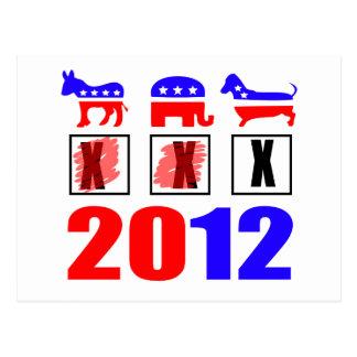 選挙は犬のためです! ポストカード