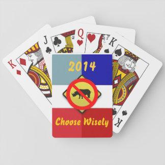 選挙2014カードを遊ぶRINOs無しTeaparty トランプ