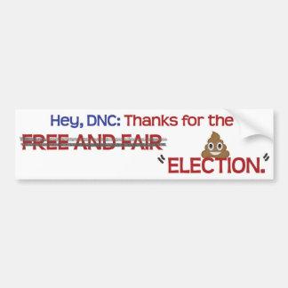 """""""選挙""""をありがとうDNC、 バンパーステッカー"""