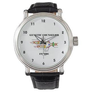 遺伝のカウンセラーの内部(DNAの写し) 腕時計