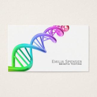 遺伝子検査-遺伝子の研究のシンプルで白いカード 名刺