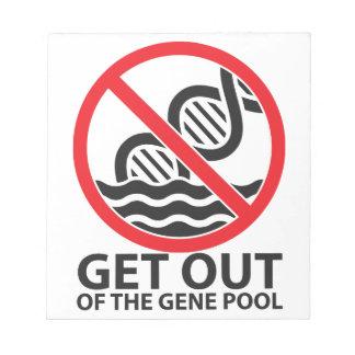 遺伝子給源から出て下さい ノートパッド