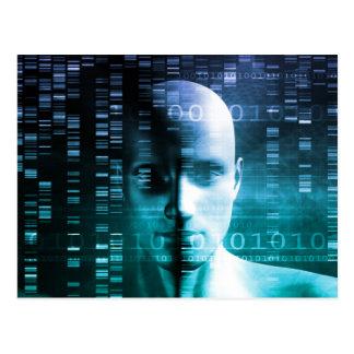 遺伝学およびDNA科学の医学研究 ポストカード