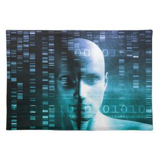遺伝学およびDNA科学の医学研究 ランチョンマット