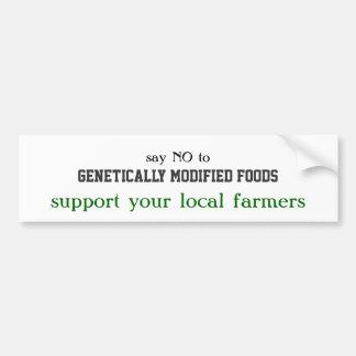 、遺伝的に変更された食糧、サポート…拒否して下さい バンパーステッカー