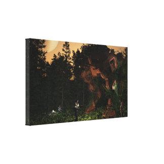 遺失物取扱所-森林の戦いのdroid キャンバスプリント