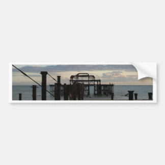 遺棄された西桟橋ブライトンイギリス バンパーステッカー